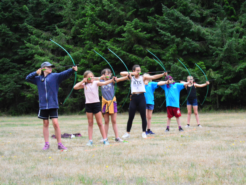 vancouver island summer camp archery
